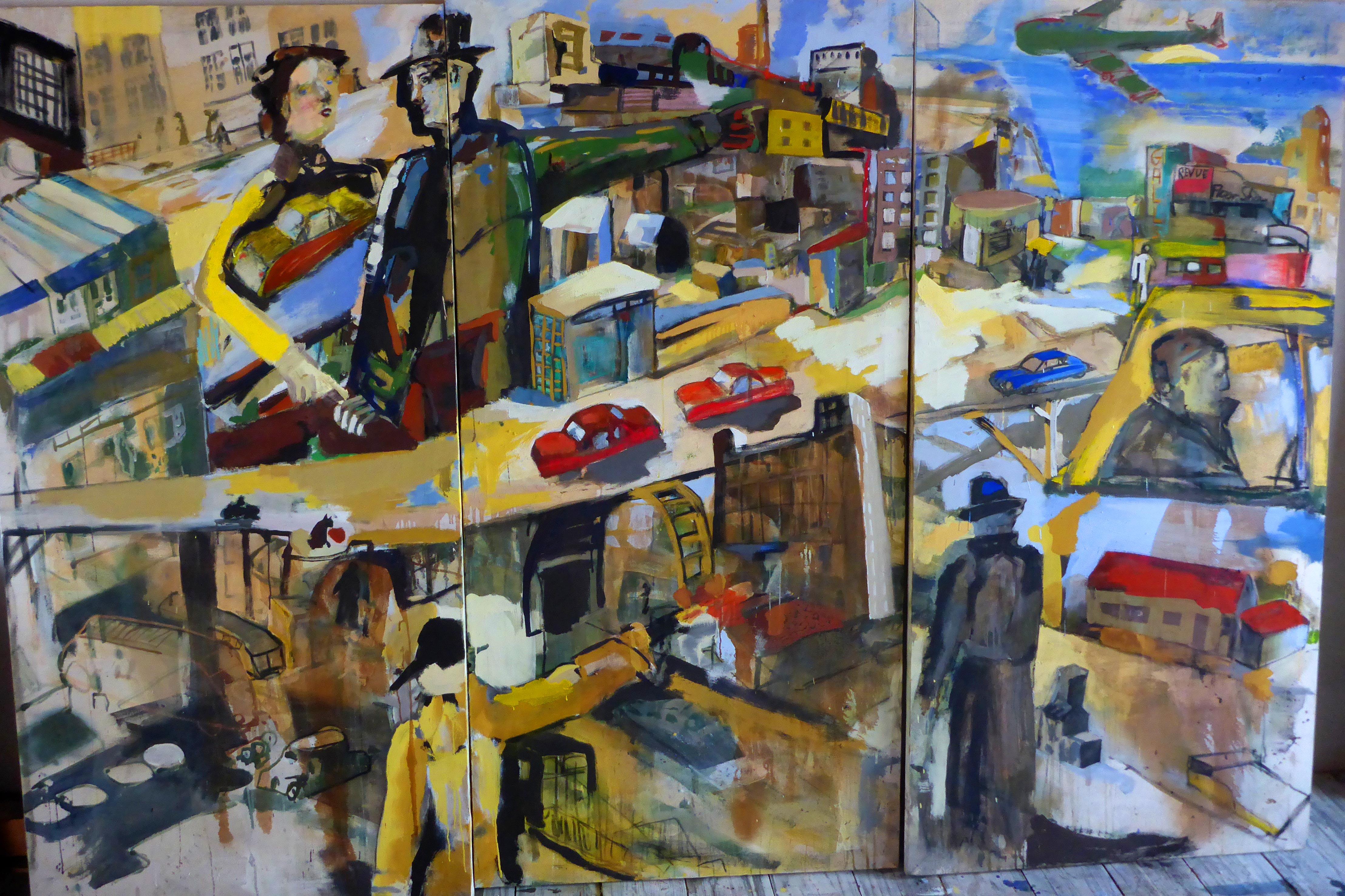 Stadt,-Triptychon